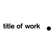 Logo of title of work